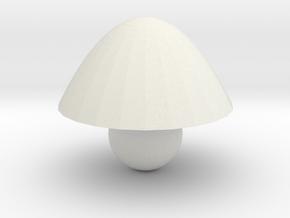 mushroom in White Natural Versatile Plastic: Medium