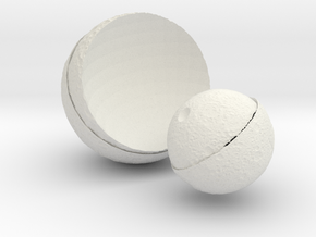 The change of the moon  in White Natural Versatile Plastic: Small