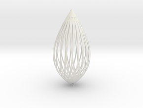 Pendant in White Natural Versatile Plastic: Large