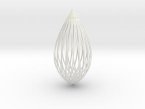 Pendant in White Natural Versatile Plastic: Large