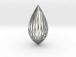 Pendant in Natural Silver: Large