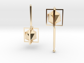 sight (ear rings) in 14k Gold Plated Brass