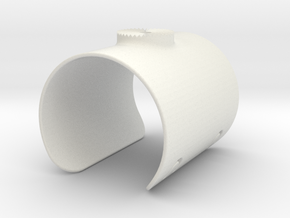 Armclamp_Elastic_70mm in White Natural Versatile Plastic