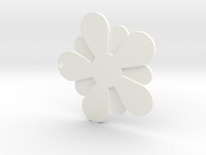 Plum blossom in White Processed Versatile Plastic: Medium