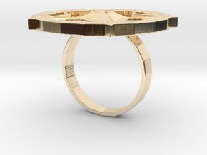 "Sawaleh ""star"" ring in 14k Gold Plated Brass: 6 / 51.5"