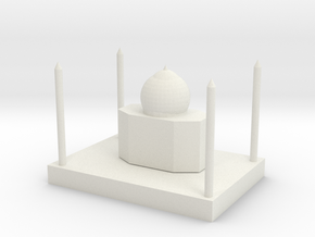 simple buildings-Taj Mahal in White Natural Versatile Plastic