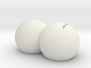 Surprise in White Natural Versatile Plastic: Medium