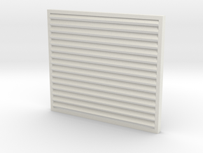 1/32 Peterbilt Louvered Grille in White Natural Versatile Plastic