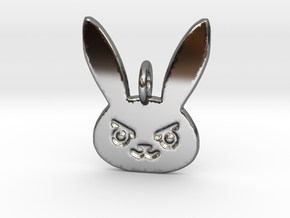 D.Va Pendant in Fine Detail Polished Silver