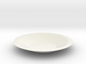 Plate in White Natural Versatile Plastic