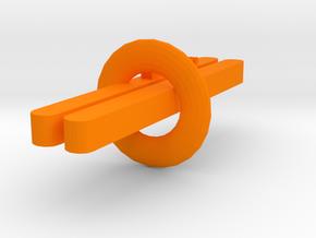 鼓蛋殼.stl in Orange Processed Versatile Plastic: Medium