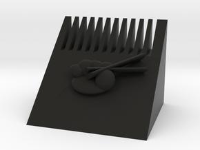 多功能毛刷.stl in Black Natural Versatile Plastic: Small