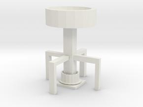 Candlestick in White Natural Versatile Plastic: Medium