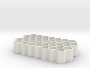 AA battery organizer  in White Natural Versatile Plastic