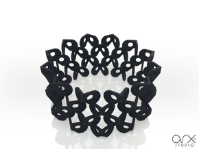 Tzompantli Bangle in Black Natural Versatile Plastic: Large