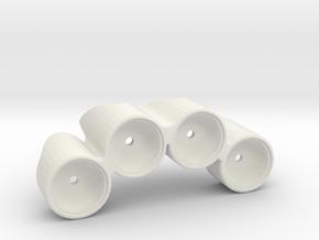 R/C 4-Pot Rally Car Light Pod in White Natural Versatile Plastic