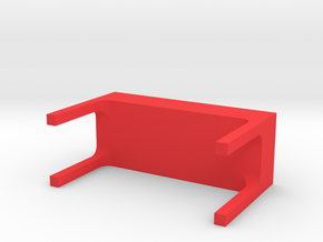 bench in Red Processed Versatile Plastic: Large