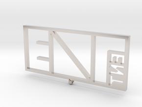 EVAL ENT Pendant in Platinum