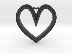 Heart Pendant in Black PA12