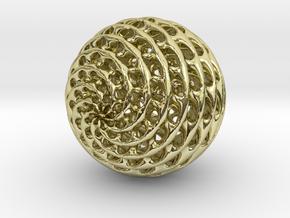 Diamond Sphere in 18k Gold Plated Brass