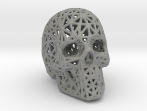 Human Skull with Pattern in Gray PA12