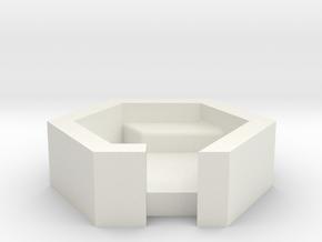 房間 Bedroom in White Natural Versatile Plastic: Small