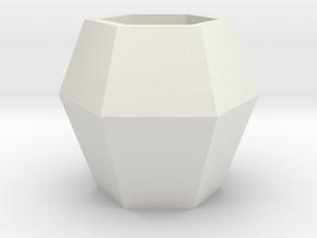 球 Ball in White Natural Versatile Plastic: Small