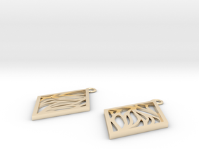 Aethra earrings in 14k Gold Plated Brass: Small