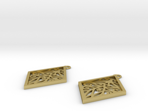 Tiana earrings in Natural Brass: Small