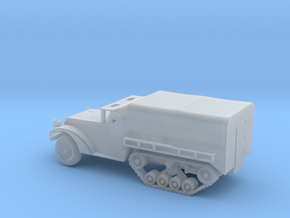 1/100 Scale M3 Halftrack with cover in Smooth Fine Detail Plastic