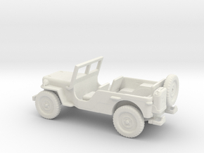 1/72 Scale MB Jeep LWB Assembly in White Natural Versatile Plastic