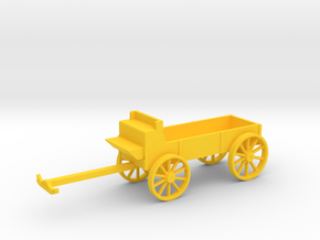 Farm Wagon in Yellow Processed Versatile Plastic: 1:64 - S