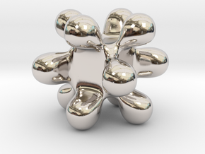 Abstract in Rhodium Plated Brass