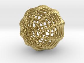 Skeletal Sphere in Natural Brass