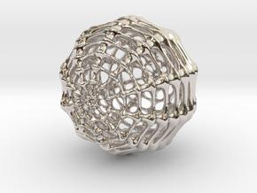 Skeletal Sphere in Platinum