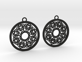Ornamental earrings no.2 in Black Natural Versatile Plastic