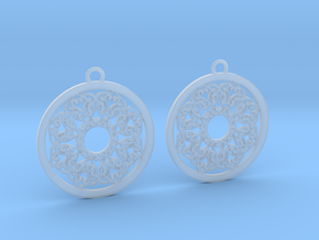 Ornamental earrings no.2 in Smooth Fine Detail Plastic