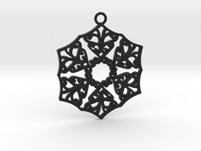 Ornamental pendant no.3 in Black Natural Versatile Plastic