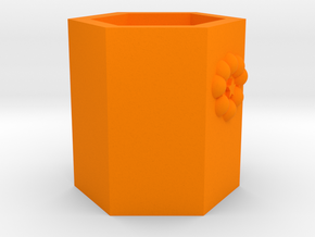 Pen holder in Orange Processed Versatile Plastic: Medium
