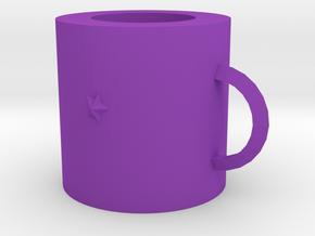 Mug in Purple Processed Versatile Plastic: Medium
