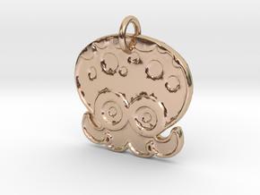 Splatoon Octoling Pendant in 14k Rose Gold Plated Brass
