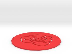 Rose Coaster in Red Processed Versatile Plastic