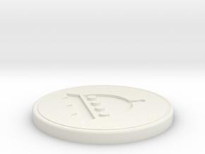 UFO Coaster in White Natural Versatile Plastic: Medium