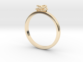 Twirl Ring in 14k Gold Plated Brass