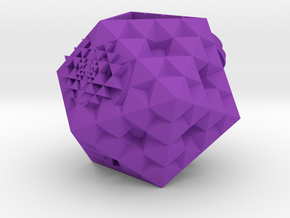 seven_flower_icosa_sriyantra planter in Purple Processed Versatile Plastic