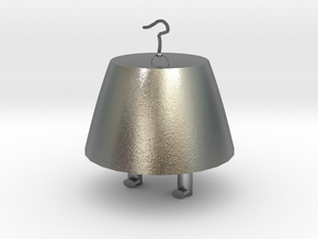 桶.stl in Natural Silver