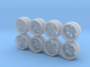 SV35 8-2 Hot Wheels Rims in Smoothest Fine Detail Plastic