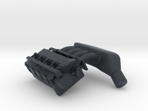 Engine Head 4 Cylinders - 1/10 in Black Professional Plastic