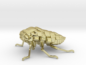 Cicada! The Somewhat Square-ish Sculpture in 18K Yellow Gold