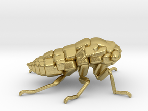 Cicada! The Somewhat Smaller Square-ish Sculpture in Natural Brass
